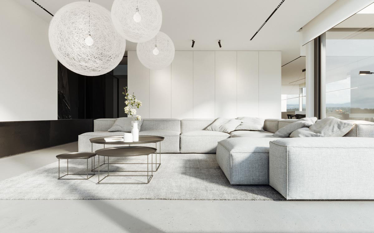 Minimalism Living Room-Less is the Best!