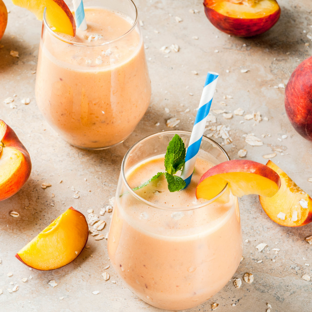 Best Peaches and Cream Smmothie for Summer!